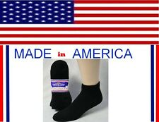 women diabetic BLACK ankle cotton socks size 9-11 shoe size 4-8 gift idea her