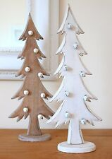 Christmas Tree Decorations Wooden Christmas Trees With Bells Cream Natural