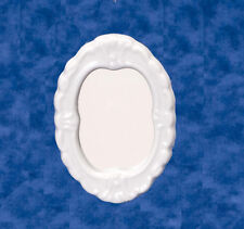 Dolls House Miniatures Accessory 1:12th Scale White Porcelain Mirror New