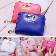 New Fashion Women Leather Small Wallet Card Holder Zip Coin Purse Clutch Handbag