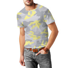 Camouflage Pastel Yellow Mens Sport Mesh T-Shirt XS-3XL All-Over-Print Sublimati