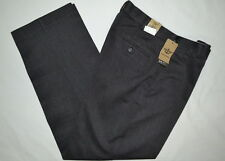 DOCKERS NEVER-IRON KHAKI GRAY PANTS TROUSERS D4 RELAXED FIT FLAT FRONT MEN