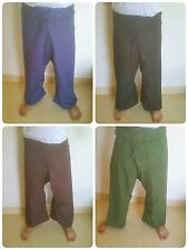 Thai Fisherman Pants - Cotton - Extra Wide/Long - One Size Fits All - 4 colors