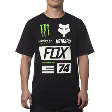 Fox Racing Monster Energy Pro Circuit Kawasaki Union Tee Black T-shirt Motocross