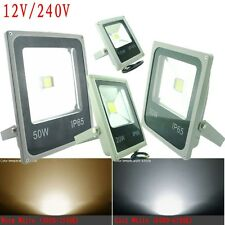 Gray 12V 240V Slim 10W 20W 30W 50W LED Floodlight Outdoor Garden Flood Light AU