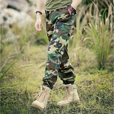 Men' army sports camo cargo camouflage comfortable military trousers pants new #