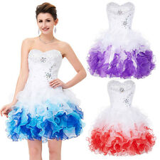 Sexy Beads Ball Cocktail Evening Prom Party Dress Homecoming Bubble Dance Short