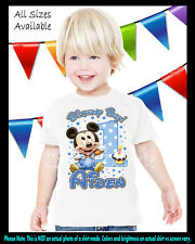 Baby Mickey Mouse Inspired 1st First Birthday Boy Personalized Custom T Shirt