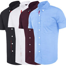 TRENDY Mens Shirts Slim Fit Button Down Formal Casual T-Shirt Short Sleeve Tops
