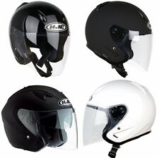 US New Classic Solid Retro Vintage HJC Motorcycle Helmet Halley Safety Open face