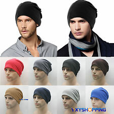 Beanies Hat Mens Knitted Warm Oversized Baggy Sport Ski Slouch Unisex Casual Cap