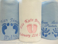 Personalised Baby Blanket Lovely soft anti - pil fleece and choice of 5 colours