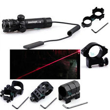 New Tactical Red Laser Sight Rifle Dot Scope 980FT Range w Pressure Switch Mount