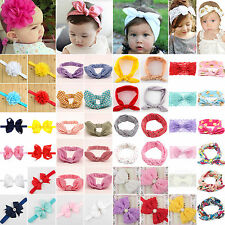 Girls Kid Baby Lovely Bowknot Hair Bow Accessories Band Turban Hairband Headband