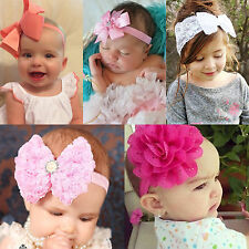 Flower Bow Knot Headband Infant Baby Girls Head Band Hair Accessories Headwrap