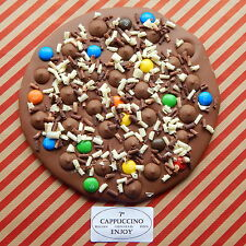"7""- Gourmet Belgian Chocolate Pizzas, Personalised,1 Pizza £9.99 or 2 for £15.99"