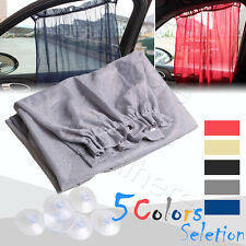 2X Car Window Curtain Sun Shade Side Nylon Mesh Sunshade Blind Shield Visor Auto