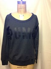 Puma Sweat Crew Sweatshirt M Dark Grey Heather - Black TL25411   NWT