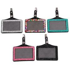 Rhinestone Business Chest Clip Card Cover Horizontal ID Tage Card Badge Holder L