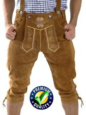 NEW MENS BAVARIAN LEDERHOSEN BROWN OKTOBERFEST LEDERHOSEN ALL SIZES