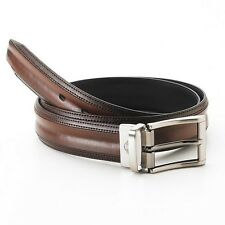 DOCKERS REVERSIBLE LEATHER TAN BLACK MENS BELT BOMBAY STYLE.