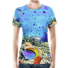 Under The Sea Women Cotton Blend T-Shirt XS-3XL All-Over-Print