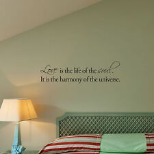 LOVE IS THE LIFE OF SOUL - Vinyl Wall Art Decals Quote