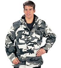 URBAN CAMO MENS ARMY Rothco M-65 Field Jacket Coat  with Removeable Liner S -3X
