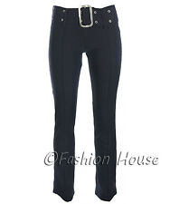 Ladies Smart Work Girls School Casual Trousers Sizes 6 8 1012 14 16 Black Grey