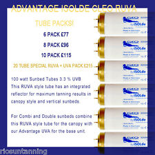 SUNBED TUBES ADVANTAGE ISOLDE CLEO RUVA 100WATT VERY HIGH SPEED TANNING