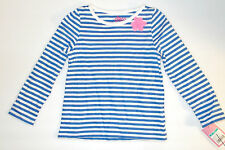 Circo Toddler Girls Blue and White Striped Long Sleeved Shirt Sizes 18M NWT