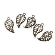 100pcs Delicate Alloy Tree Leafs Charms Pendants Jewelry Findings Accessories