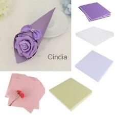 50pcs Colored Blank Paper DIY Wedding Party Cone Candy Wrap Boxes Craft Decor