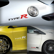 """Universal All Vehicle """"Type R"""" Racing Sports Decal Sticker 2EA 10.2""""x1.9"""""""