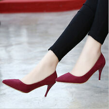 Fashion OL Style Candy Colors Pointed Toe High Heels Stilettos Pump Woman shoes
