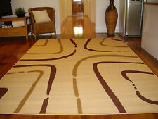 Extra Large Floor Rug Patterned Designer FREE DELIVERY 320 x 240 43408 Beige