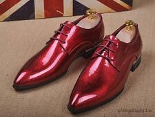 Bling bling men' wing tip lace-up dress formal loafers leisure shoes new #