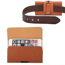 For Iphone Samsung Belt Clip Leather+PU case Cellphone Holster Pouch Cover Bag