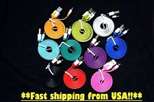 Micro USB 2.0 Data Sync Charger Noodle Flat Cable 3ft 1m for Galaxy S4 S3 HTC On