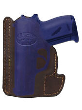 New Barsony Brown Leather Gun Pocket Holster Taurus Beretta Small Mini 22 25 380