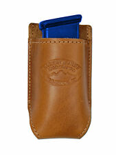 NEW Barsony Tan Leather Single Mag Pouch for Colt 380 & Ultra Compact 9mm 40 45