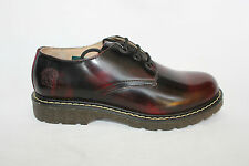 Bertrum Grinders Burgundy Rub Men's Womens American Brogue Lace up Leather Shoes