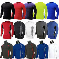 Mens Compression Armour Base Layer Long Sleeve Top Thermal Tights Sports T-shirt