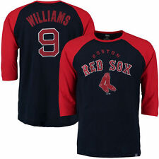 Ted Williams Boston Red Sox Majestic Player Tactics Cooperstown 3/4 Shirt
