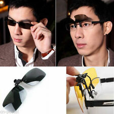 Polarized UV Lens Clip-On Sunglasses fr Myopic Nearsighted Glasses Night Driving