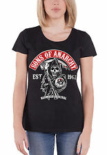 Sons Of Anarchy T Shirt Womens Redwood Original Patch Official Black skinny fit