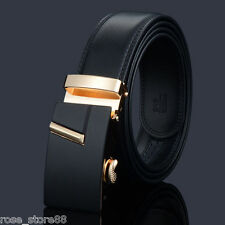 Luxury Mens Belts Black Automatic Belt Buckle Casual Brown Genuine Leather Belt