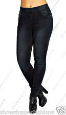 NEW Plus Size Womens Black Skinny Stretch Jeans Slim Jeggings 16 18 20 22 24