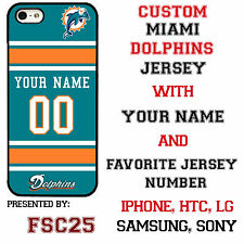 New Custom MIAMI DOLPHINS phone Case Cover for iPhone 6 6 PLUS 5 5s 5c 4 4s