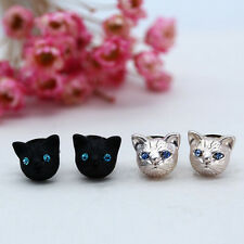 Crystal Rhinestone Ear Studs  Earrings Jewelry Jewelr Lovely Cat New New Women